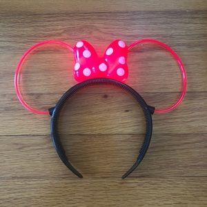 Disney Accessories Neon Light Up Minnie Mouse Ears Poshmark
